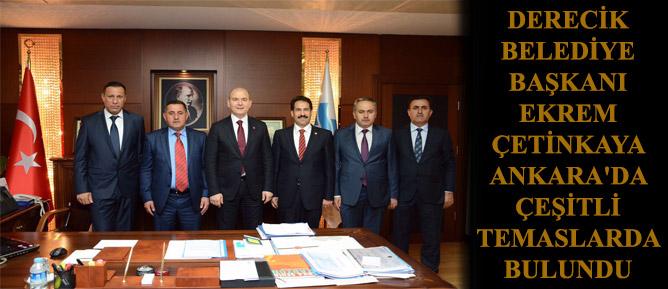 Derecik Belediye Başkanı Ekrem Çetinkaya Ankara'da Çeşitli Temaslarda Bulundu
