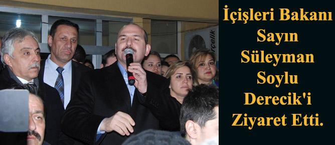 İçişleri Bakanı Sayın Süleyman  Soylu  Derecik'i Ziyaret Etti.