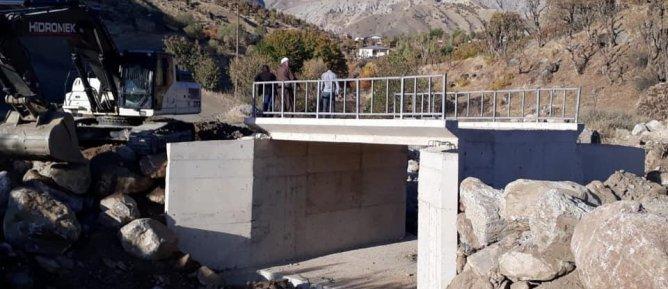 Kırca küme evlerine yeni köprü yapımı