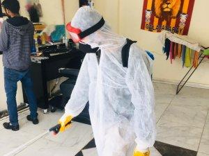 Derecik Belediyesi Tarafından Dezenfekte Çalışmaları