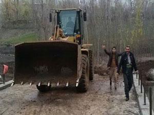 Derecik Belediyesi'nin köprü çalışması sona erdi