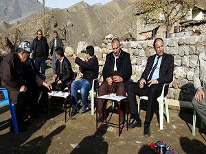 Derecik Belediyesi ve DSİ ekibi Derecik'te yapılması düşünülen projeleri yerinde inceledi