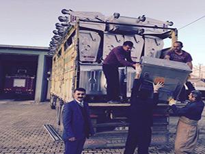 Çevre ve Şehircilik Bakanlığı'ndan Derecik Belediyesi'ne  90 adet çöp  konteyneri gönderildi